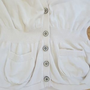 Fossil Sweaters - Fossil vneck cardigan offwhite button down sweater
